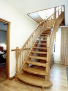 Doors and stairs made of natural wood