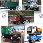 Hydraulic cylinder Kamaz, Maz, Gaz, Zil, Pts, new and after repair