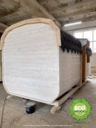 Мобильная баня квадро с душевой кабинкой под ключ 6х2,3 м